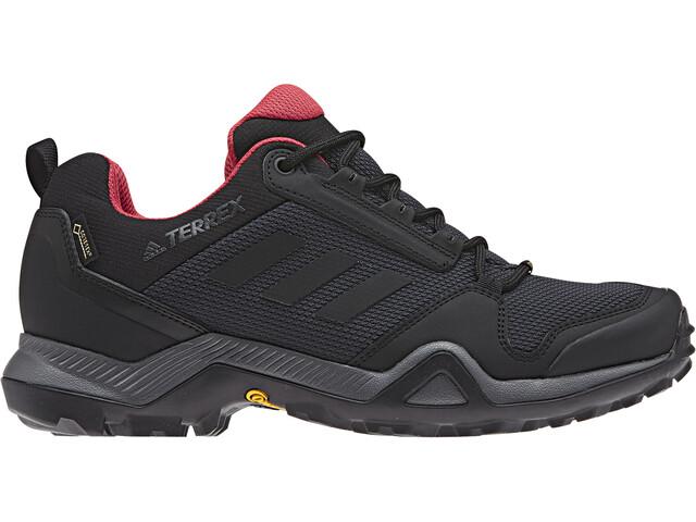 adidas TERREX AX3 Gore-Tex Chaussures de randonnée Imperméable Femme, carbon/core black/active pink